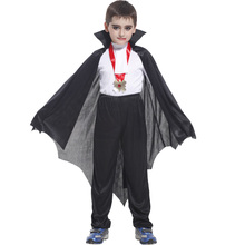 Child Bat Vampire Costume Prince of Darkness Costumes for Boys Halloween Purim Party Carnival Cosplay