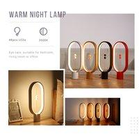 Магнитная лампа баланс креативное умное освещение светодиодный эллипс настольная лампа Волшебные плавающие шары переключатель USB питание ...