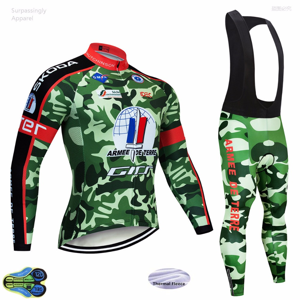 Team Men s Camouflage Biking Cycling Clothing Cycling Jersey Set MTB Biking Sport Jersey Winter Bicycle