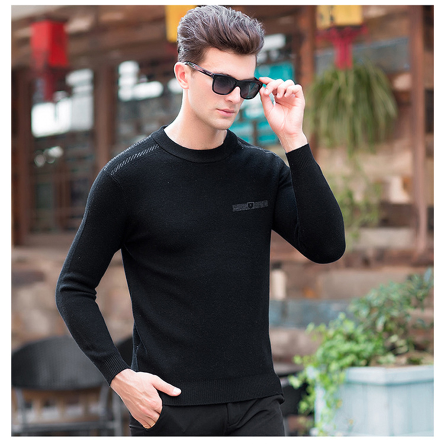 mens pullover sweaters Simple style wool O neck sweater jumpers Autumn Thin male knitwear 6 colors