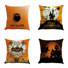 Happy Halloween Labu Sarung Bantal Bantal Lempar Linen Rumah Tekstil Novel Festival Hadiah DROP Shipping(China)