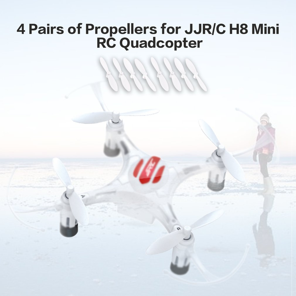 Image 3 - 4 Pairs of Original JJR/C H8 Mini RC Quadcopter CW+CCW Propeller Parts Blade Set Portable for JJRC H8 Mini RC Helicopter-in Parts & Accessories from Toys & Hobbies