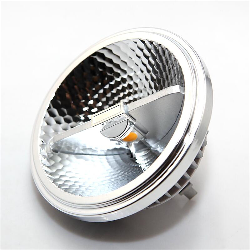 все цены на Free shipping 15W Dimmable G53 AR111 COB LED lamp bulb light /AR111 COB LED light AC85V-265/ DC12V LED downlight 10PCS онлайн