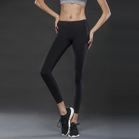 Vutru High Elastic Fitness Pants Quick Drying Pants Running Compression Trousers Tight Pants Jiufen Yoga Pants