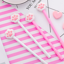 1 Pcs 0.38mm Kawaii Plastic Ink Creative Gel Pen Cartoon Cat claw Neutral Pens For School Writing Office Supplies Pen Stationery creative cute cat s paw gel pen kawaii students writing neutral pens caneta office school stationery supplies 0 5mm