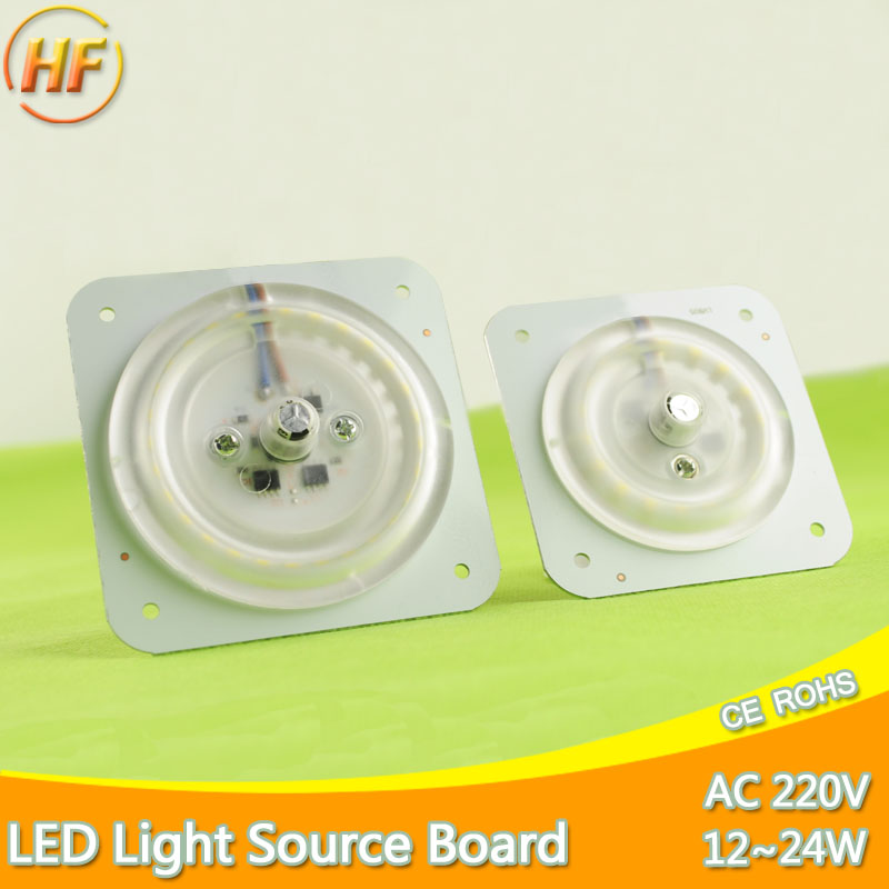 Ultra Bright Thin Led Light Source Module 12W 18W 24W 220v 240v For Ceiling Lamp Downlight Replace Accessory Magnetic Board Bulb the new super bright led built dimmable downlight cob 3w 5w mr16 gu10 led spot light led decoration ceiling lamp ac220 led lamp