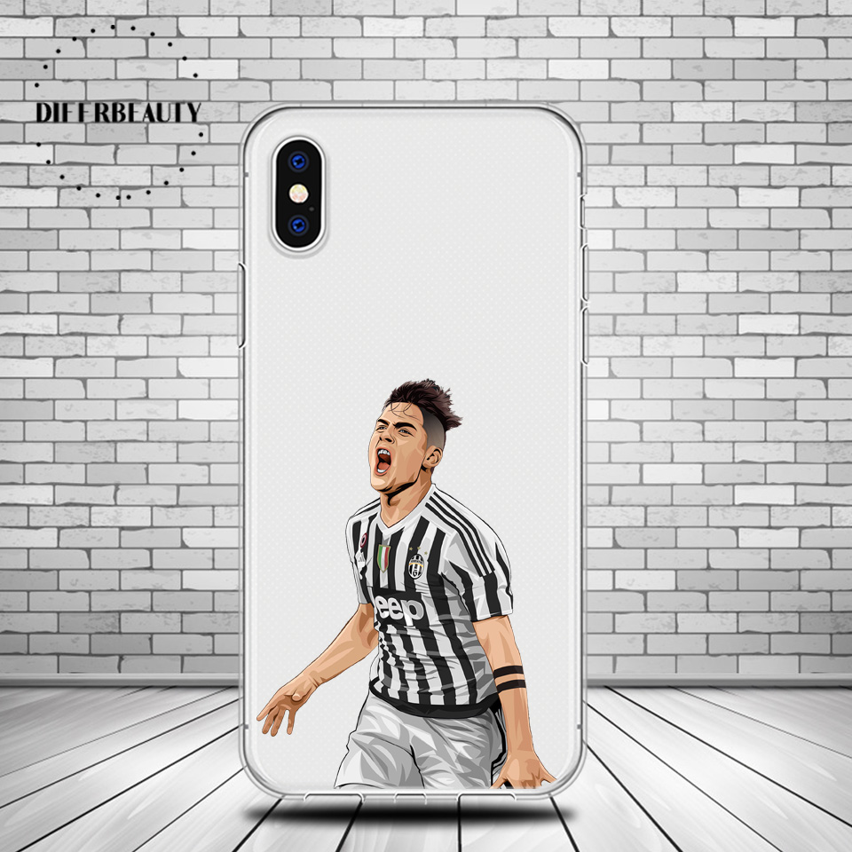 DIFFRBEAUTY Famous Football Soccer Star Paulo Dybala Soft Phone Cases Flexible Phone Holder Coque For iphone 6 6S 7 8Plus 5s SE