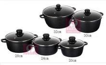 5pcs/set  pot set  cookware set panela non stick pot induction use