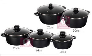 Image 1 - 5pcs/set  pot set  cookware set panela non stick pot induction use