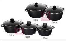 Ensemble de casseroles, 5 pièces/ensemble dustensiles de cuisine, casseroles antiadhésives à induction