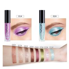 8-Color Shiny Eye Shadow Liquid Pearl Diamond Glitter Eyeshadow RQS-Y19