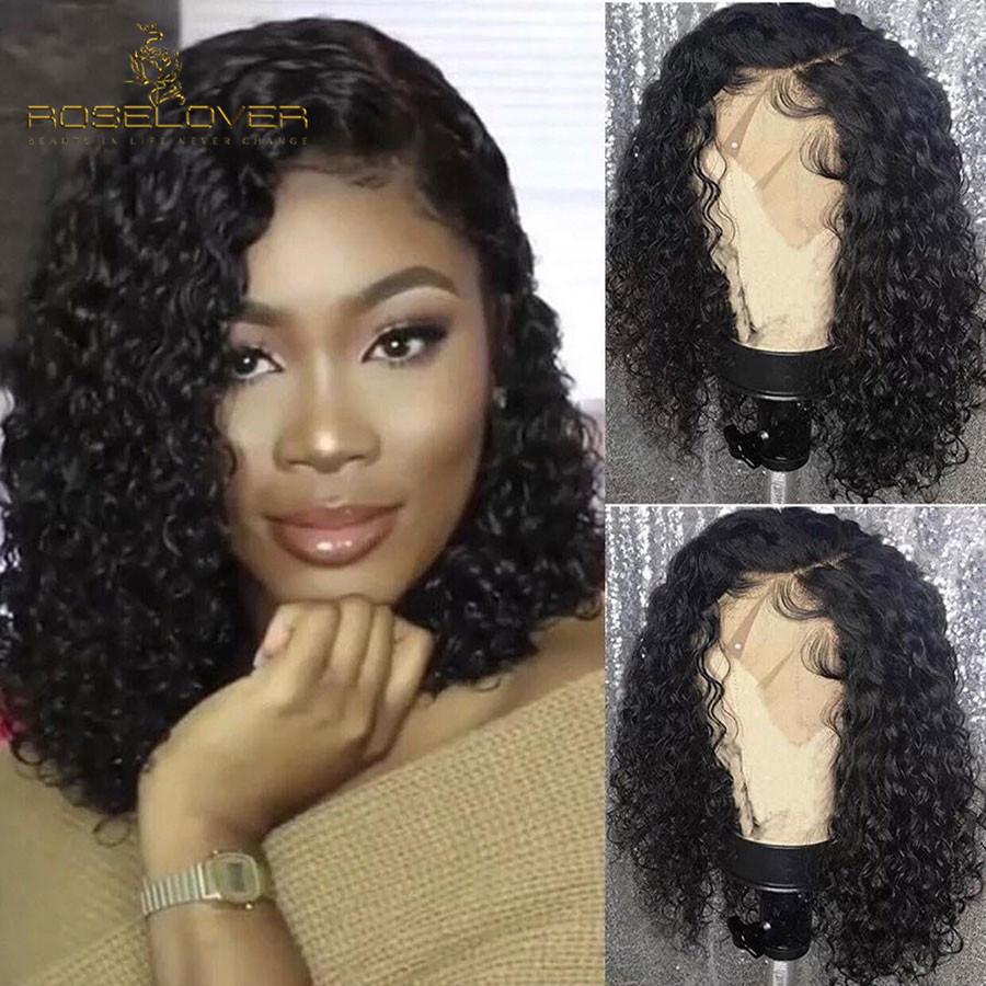13x6 Lace Front Human Hair Wigs Pre Plucked with Baby Hair Deep Part Curly Malaysia Hair