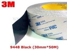 3 М Черный, 30 мм * 50 М 9448 Черный Двусторонняя Лента для Промышленного присоединения, пена и Резина Ламинирование, ЖК-Экран Облигаций