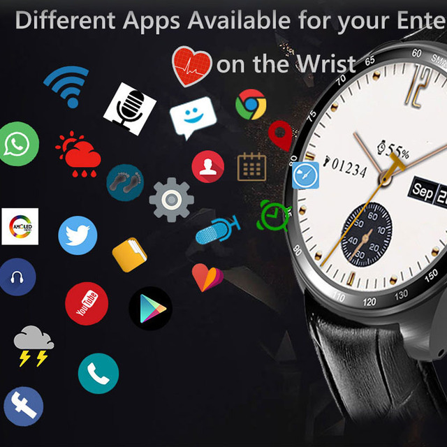US $98 9 10% OFF|2017 New Android 5 1 MTK6572 3G Wifi Bluetooth smartwatch  watchphone wristwatch support app download With Camera SIM TF Card-in Smart