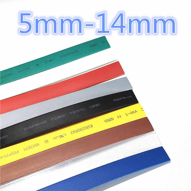 1 Meter 2:1 9 Warna 5 Mm 6 Mm 7 Mm 8 Mm 9 Mm 10 Mm 11 Mm 12 MM 13 Mm 14 Mm Heat Shrink Heatshrink Tubing Tube Kawat Dropshipping