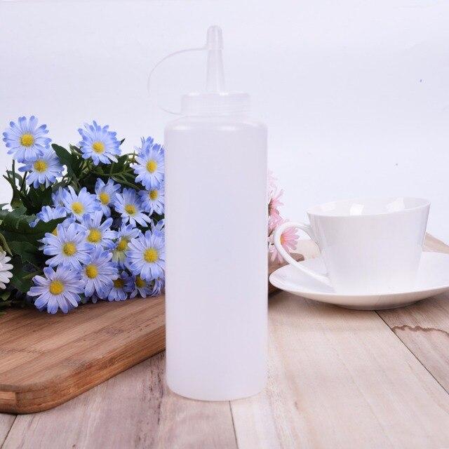 Accessori Per la cucina Di Plastica Spremere Bottiglia Dispenser 8 oz di Salsa di Aceto Olio Ketchup Cookling strumenti 180 ml 270 ml 390 ml 720 ml