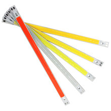 200*10 мм белый, желтый, зеленый, синий, красный светодиодный светильник источник COB чип на плате 10 Вт 12 В Автозапчасти для автомобиля DRL светильник s Рабочая лампа домашние лампы