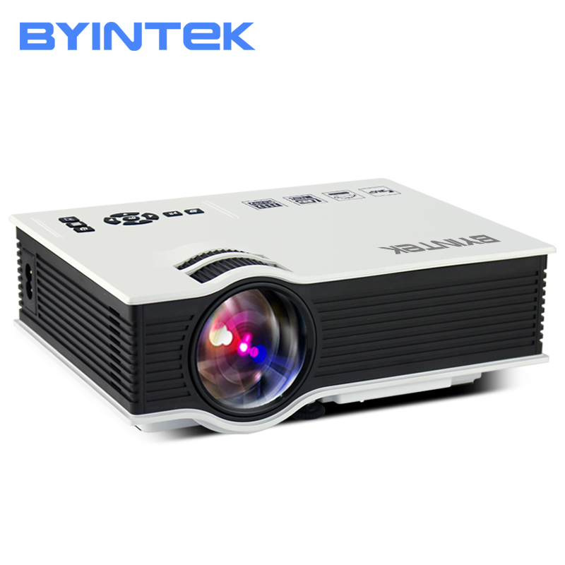 BYINTEK BT400 UC40 Mini LCD Projector 1800 Lumens Support Full HD Video Portable LED Home Theater Cheap HDMI Proyector Beamer unic uc40 mini portable projector hdmi home theater beamer multimedia proyector usb av sd hdmi ir video projector