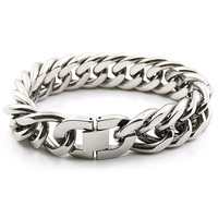 Fashion Men S Jewelry High Polished Stainless Steel Cuban Curb Bracelet Men Figaro Box Curb Chain