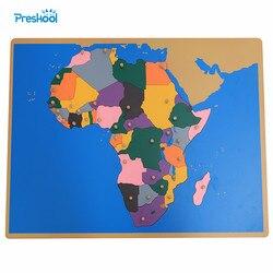 Baby Spielzeug Montessori Puzzle Afrika Karte Lernen & Bildung Frühen Kindheit Bildung Kinder Spielzeug Brinquedos Juguetes