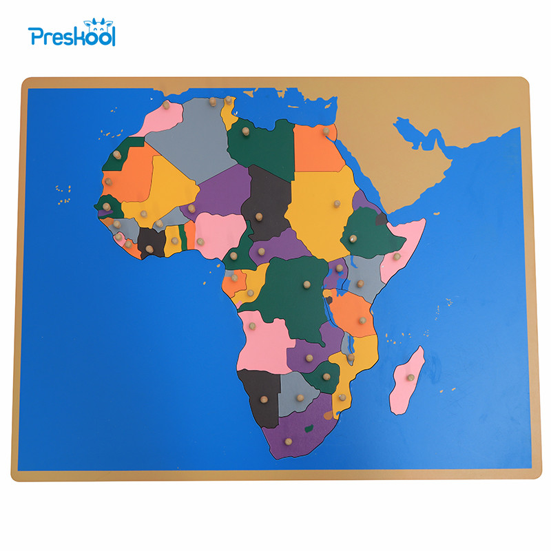 Baby Toy Montessori Puzzle Africa Map Learning & Education Early Childhood Education Kids Toys Brinquedos Juguetes