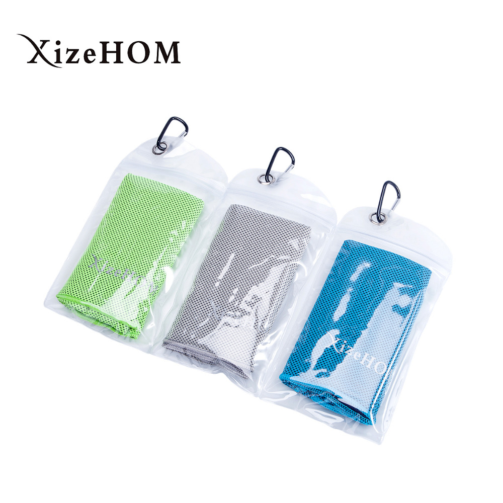 XizeHOM (30*120cm/3PCS) Multicolor Towel Utility Enduring Instant Cooling Towel Heat Relief Reusable sports towel