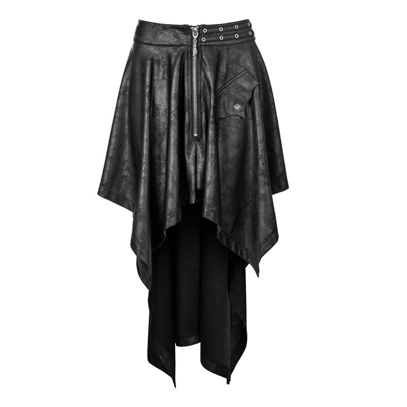 Rave Jupes D'aronde Black Gothique En Taille 2018 Vintage Noir Vêtements Cuir Jupe Haute Rock Femmes Wq Harajuku Faux Asymétrique Queue Punk 351bqf vawxdHqpv