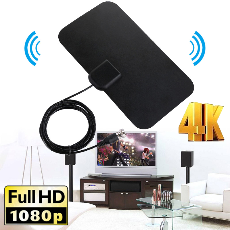 Areyourshop 50 Miles Real Range High Gain Active Indoor Freeview HDTV 4K Antenna ATSC 1080P Home Appliance