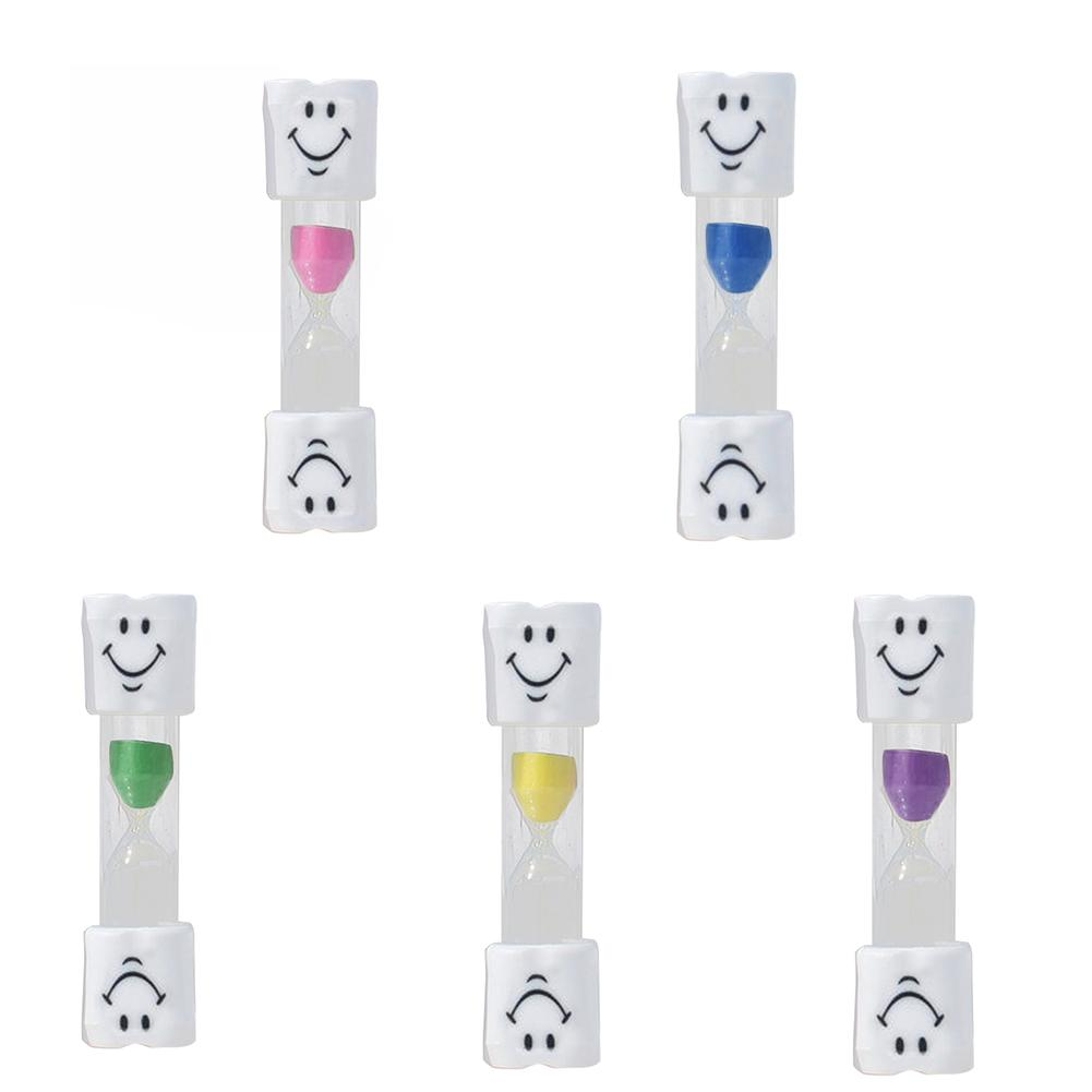 Popular Smile Face 2 Mins Hourglass Kids Tooth Brushing Timer Sand Clock Home Decor Gift