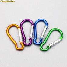 ChengHaoRan 2pcs D Shape Fast Hang Mini Buckle Hook Clip Aluminum Camping Carabiner Keychain useful