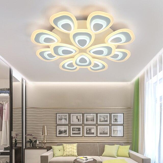 2017 Moderne LED Decke Kronleuchter Lichter Weiß Schwarz Körper Kreative  Deckenleuchter Beleuchtung Für Schlafzimmer Wohnzimmer Lüster