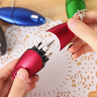 1pcs Creative Multifunction Screwdriver Ballpoint Pen With LED Light Mini Protable Key Chain 1MM Bullet Tip Signing Pen [category]