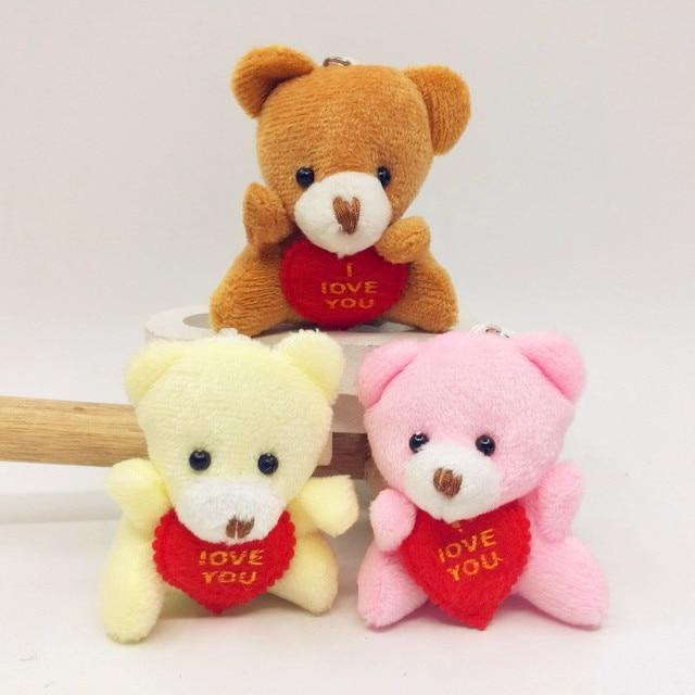 6CM I Love You Teddy Bear Stuffed Plush Toy Holding LOVE Heart Soft Gift for Valentine Day Birthday Girls' Brinquedos Keychain Uncategorized Decoration Stuffed & Plush Toys Toys