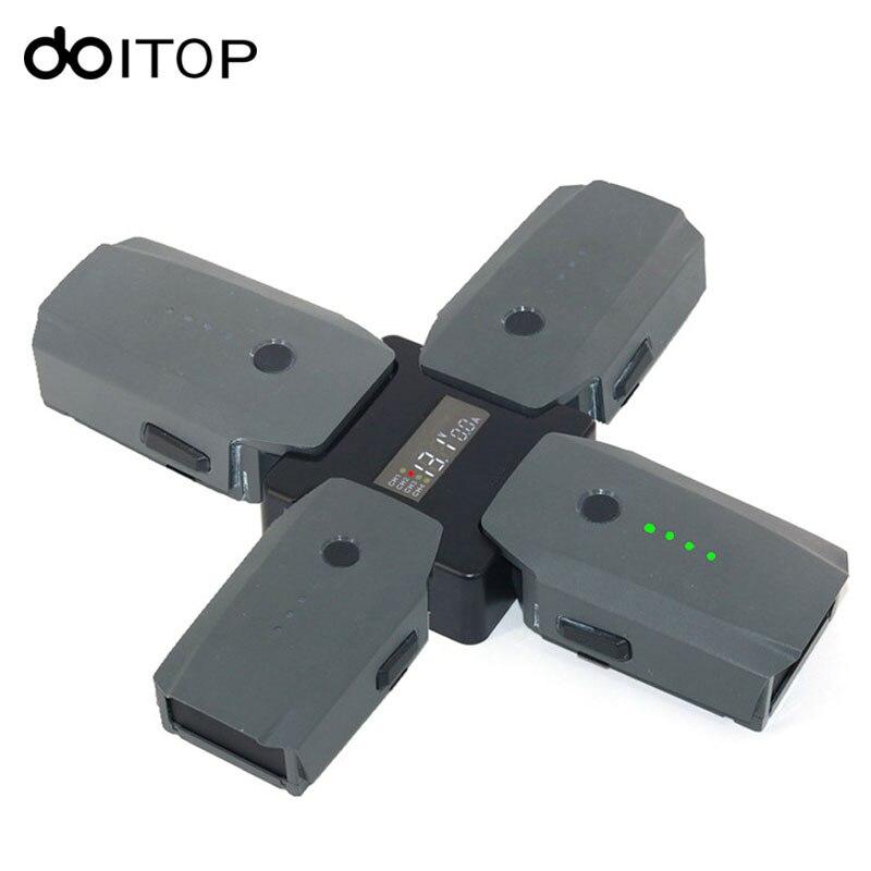 DOITOP 4 en 1 Batterie Steward Parallèle Station De Recharge pour DJI Mavic Pro Drone Chargeur Dock Numérique Affichage pour DJI Mavic Pro #