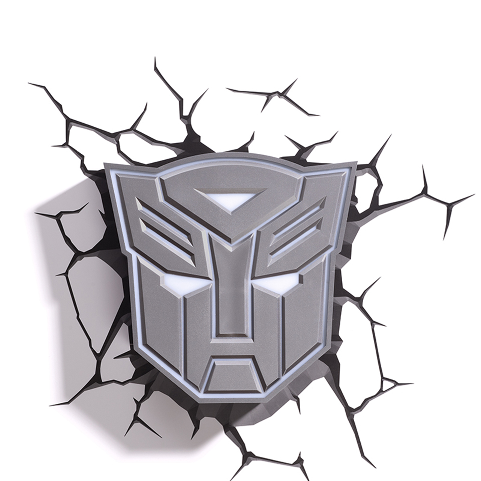 GuxenTransformer Autobots Decepticons 3D Creative Mood Lamp Color Change Night Light Child Kids Bedroom Deco Boys Xmas Gifts - 2