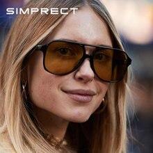 Simprect 2021 Ретро стиль большие солнцезащитные очки женские