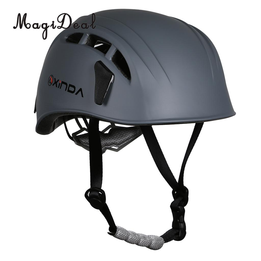 Safety Helmet Outdoor Rock Climbing Caving Kayaking Rappel Rescue Gray For Wall Equipment Rappelling Mountaineering Accessory