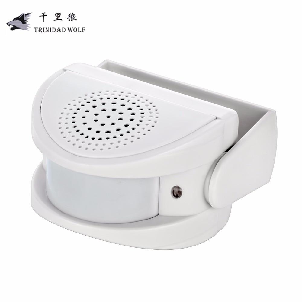 TRINIDAD WOLF Wireless Bell Doorbell PIR Infrared Motion Sensor Door Bell Alarm Welcome Device Shop Store Welcome Chime ks v2 welcom chime bell sensor
