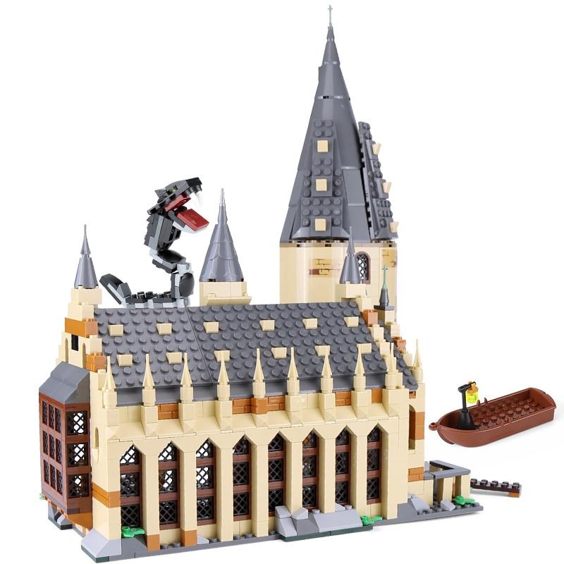 NEW 16052 983pcs Harri Potter series Hogwarts Great Hall Building Blocks Bricks