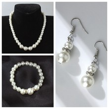 European and American classic shambhala crystal pearl necklace earrings set wholesale(China)