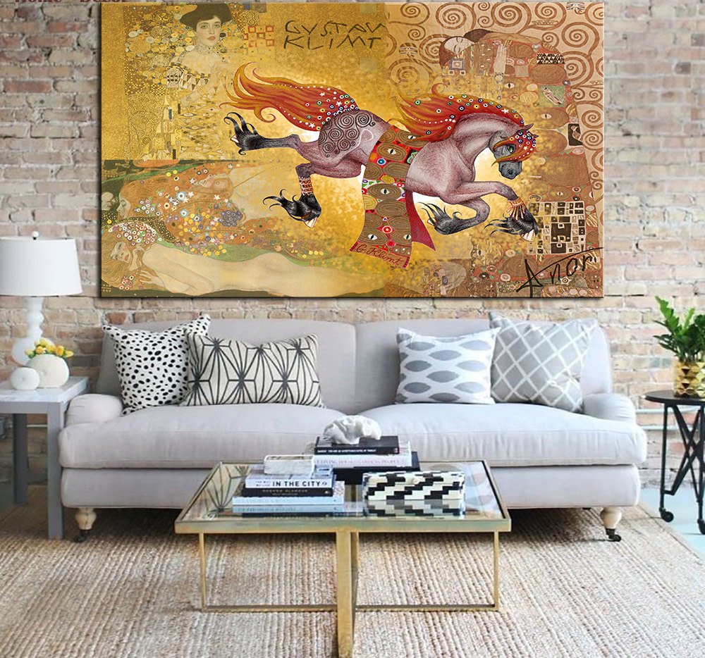 Huge Gustav KLIMT giclee painting CANVAS WALL ART decor poster oil painting wall art on canvas wall picture For living room