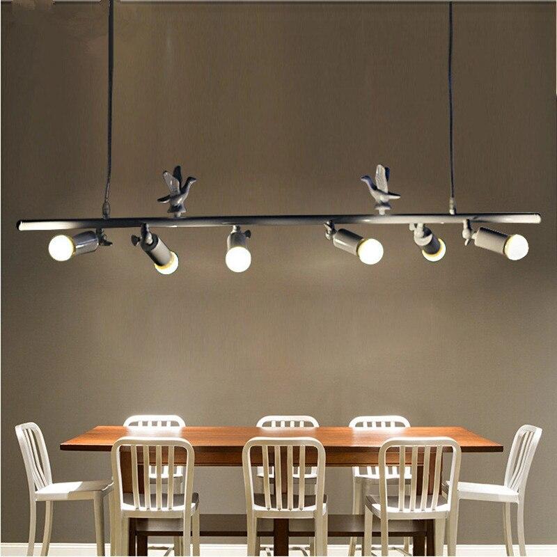 Lustry v jednoduchém železném uměleckém stylu Moderní LED lustrové lampy Světla pro domácí osvětlení Dinnig Dekorace obývacího pokoje