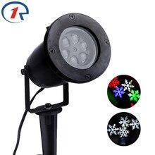 ZjRight Водонепроницаемый Перемещение Снег Лазерный Проектор Лампы Снежинка LED Свет Этапа На Рождество Партии Свет Лампы Сад Открытый