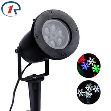ZjRight Waterproof Moving Snow Laser Projector Lamps Snowflake LED Stage Light For Christmas Party Light Garden Lamp Outdoor