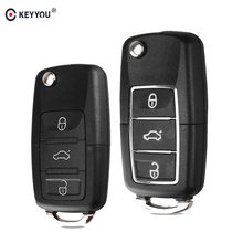 c3be4a6cf42e KEYYOU Car Remote Key Shell Case Fob For VW Passat b6 Polo Golf 4 6 Touran  Bora New Arrival 3 Button Folding Key