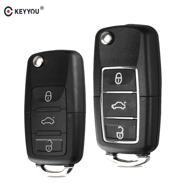 Car Remote Key >> Us 1 33 20 Off Aliexpress Com Buy Keyyou Car Remote Key Shell Case Fob For Vw Passat B6 Polo Golf 4 6 Touran Bora New Arrival 3 Button Folding Key
