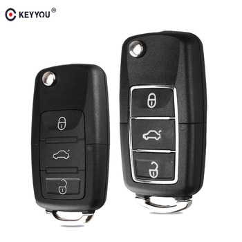 KEYYOU etui na kluczyki do samochodu Case Fob do VW Passat b6 Polo Golf 4 6 Touran Bora New Arrival 3 przycisk składany klucz tanie i dobre opinie For VW VOLKSWAGEN GOLF For VW VOLKSWAGEN PASSAT For VW VOLKSWAGEN Tiguan in China For new VW Tiguan Golf Sagitar ect