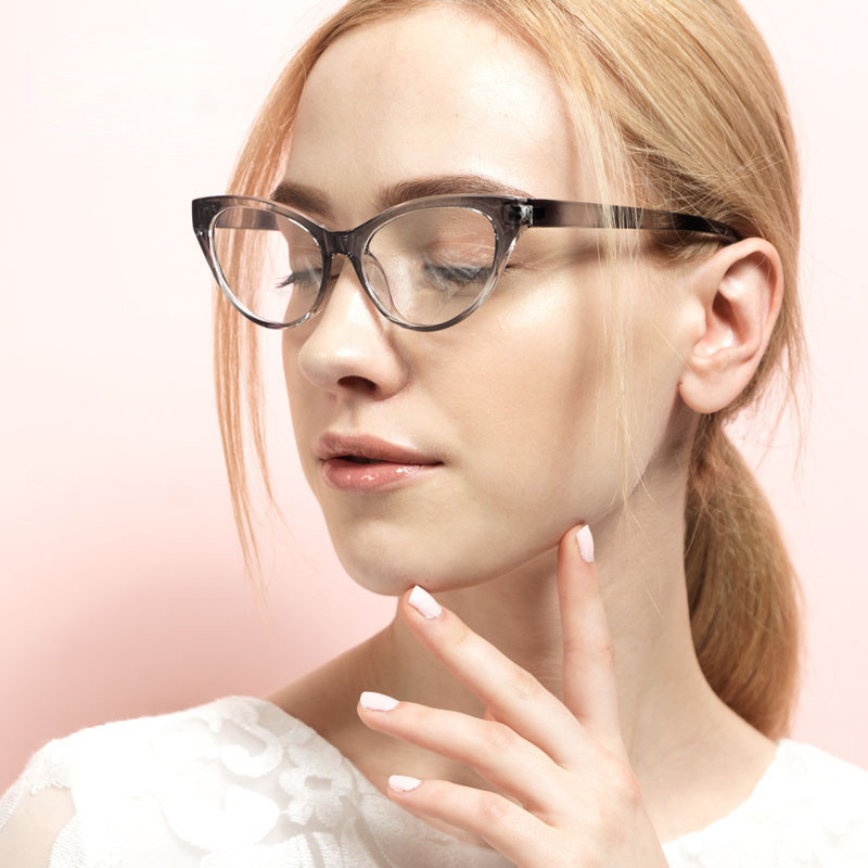 Classic TR90 Optical Women Cat Eye Spectacle Glasses Eyewear Frame Vintage Plain Mirror Anti Radiation Computer Glasses Frame A1 in Women 39 s Eyewear Frames from Apparel Accessories