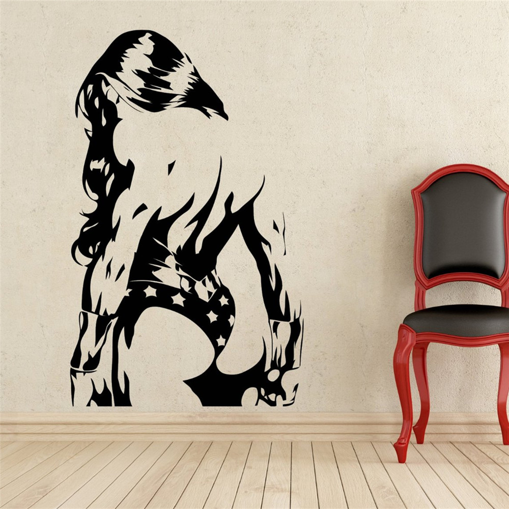 Aliexpress buy creative diy wall art home decoration wonder aliexpress buy creative diy wall art home decoration wonder woman wall decal superhero vinyl removable sticker living room wall stickers from reliable amipublicfo Images