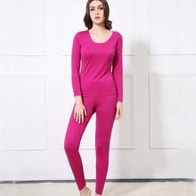 80% Silk 20% Cotton Women's Warm Thermal Underwear Long Johns Set M L XL SG381